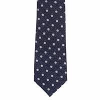 עניבה מנוקדת כחול לבן מראה חורפי