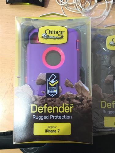 Otterbox defender תלת שכבתי (סגול\ורוד) לאייפון 7