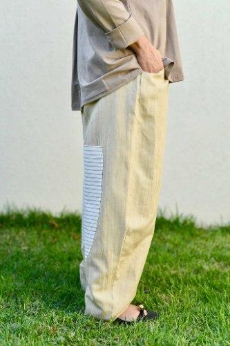 מכנסיים מדגם נור בצבע בז׳