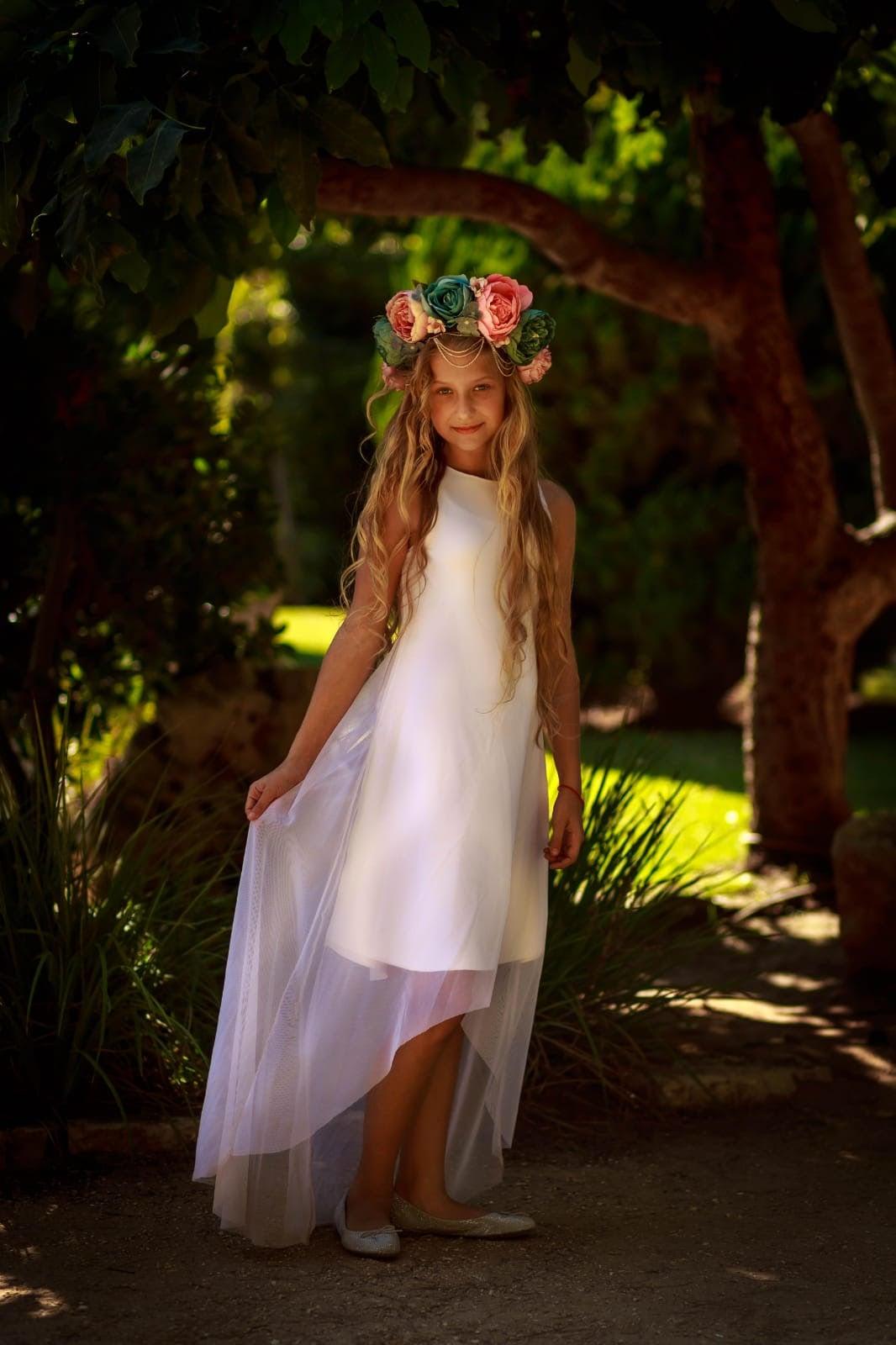 שמלת אוקסנה לבנה