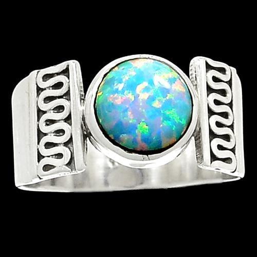 טבעת כסף משובצת אבן אופאל  RG5890 | תכשיטי כסף 925 | טבעות כסף