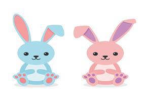 טפט דביק מותאם לספסל אחסון לצעצועים (STUVA)- ארנבים בורוד ותכלת