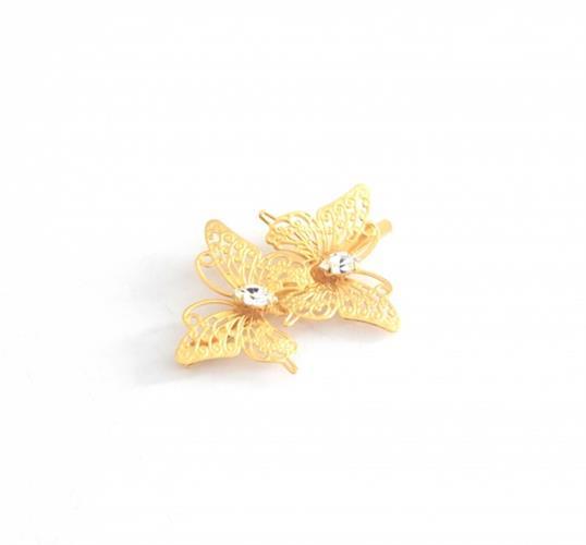 סיכת פרפרים זהב