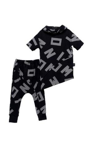 חליפה א-סימטרית שחור אפור (2-5)