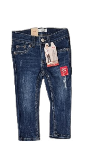 ג'ינס סקיני כחול משופשף LEVIS (2-8)