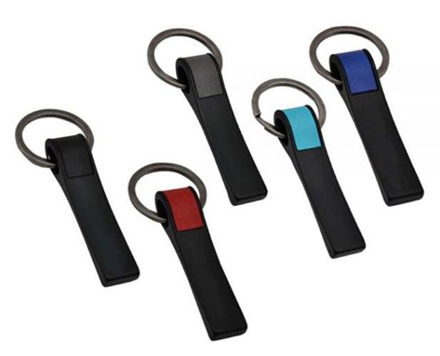 מחזיק מפתחות מתכת שחורה