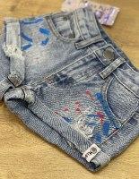 שורט ג'ינס שפריצים  MISS KIDS