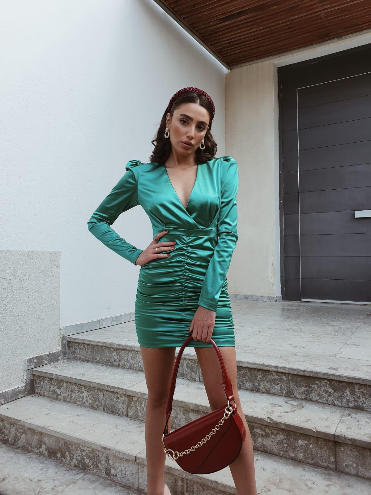 שמלת רימה - ירוקה