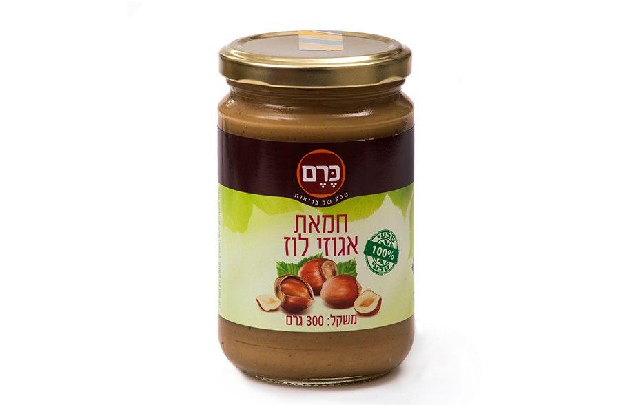 חמאת אגוזי לוז 100% פרימיום