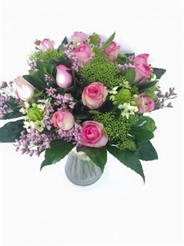 זר ורדים ורודים-מקט 63