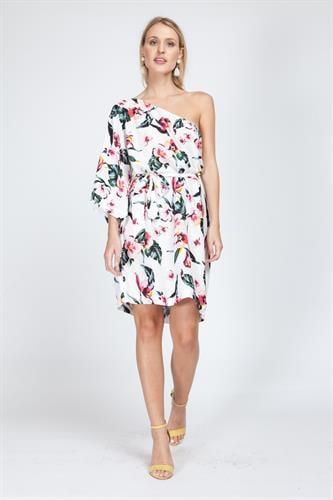 שמלת בברלי פרחוני לבן
