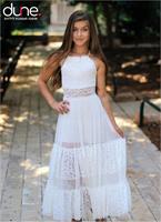 שמלת מקסי שילוב תחרה בת מצווש