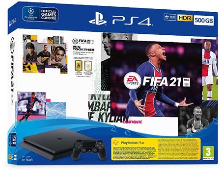 קונסולה פלייסטיישן PlayStation 4 500GB בקר אחד FIFA 21 דגם CUH-2216A-FUT21