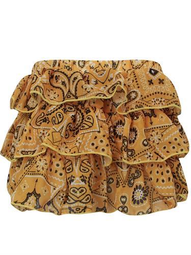 חצאית קומות צהובה הדפס בנדנה VIEW