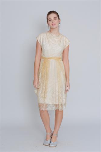 שמלת שלג קצרה זהב