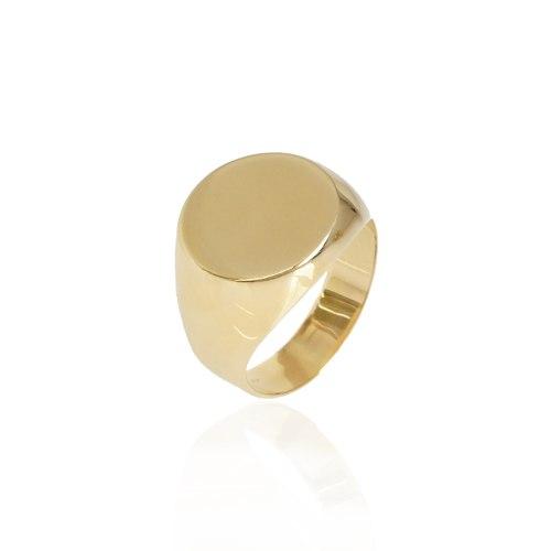 טבעת זהב חותם לגבר מזהב