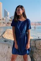 שמלת זואי אוברסייז כחולה