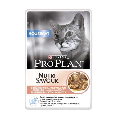 פרו פלאן HOUSECAT מעדן לח לחתול 85 גרם סלמון - PRO PLAN NUTRI SAVOUR HOUSECAT SALMON 85 G