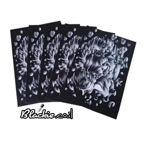 """גלויה/מזכרת -""""קומבינשין 3"""" חבילה של 5 הדפסים גראפים"""