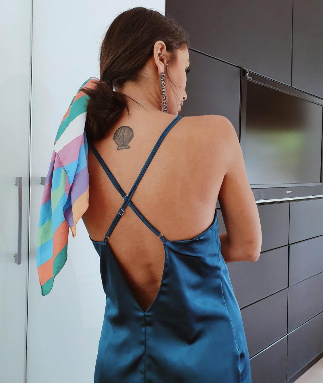שמלת מיני דונה ליידי - טורקיזית