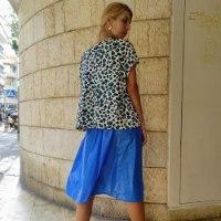 חולצת NAM - מנומר לבן כחול
