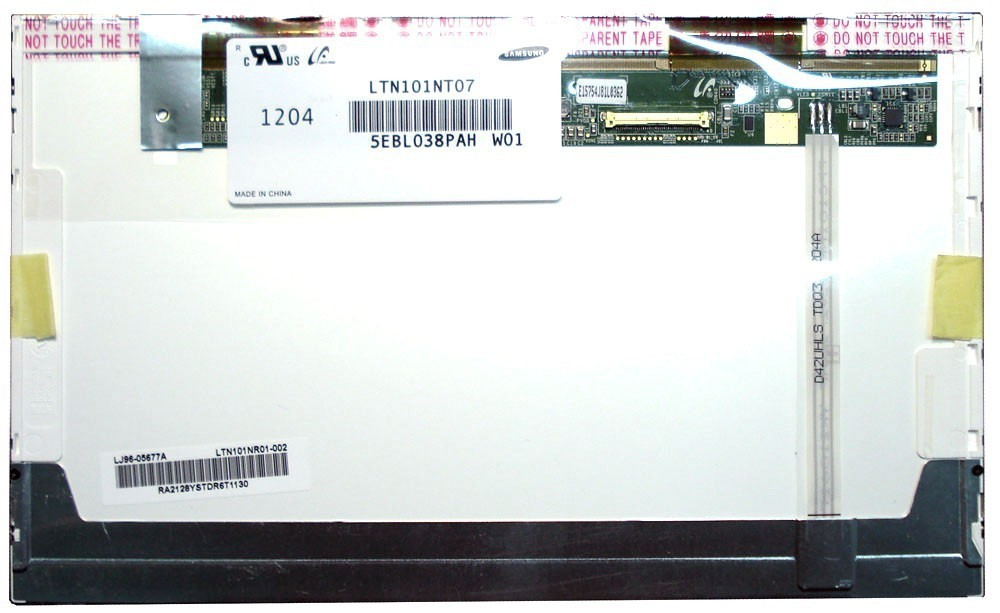 החלפת מסך למחשב נייד Samsung LTN101NT07 Laptop LCD Screen Replacement 10.1