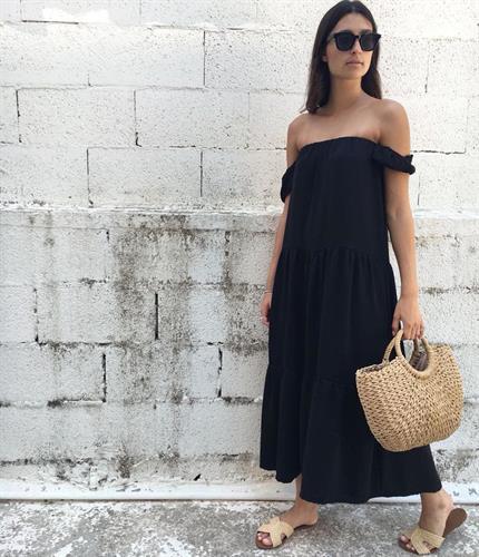 שמלת מקסי ריטה - שחורה