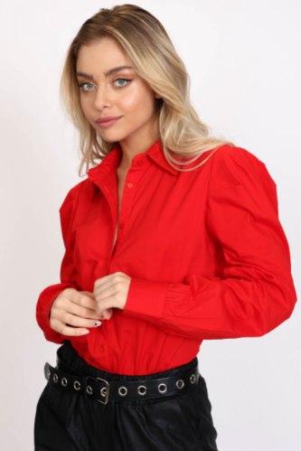 חולצת כותנה איימי  אדום
