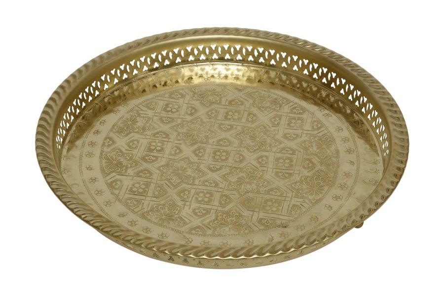 מגש מרוקאי זהב מתכת L מידות: 5X27