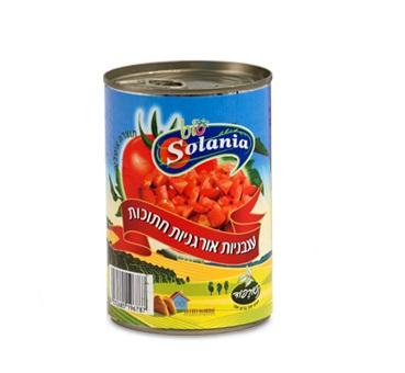 עגבניות אורגניות חתוכות