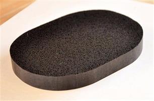 ספוג רחב שחור לניקוי הגוף