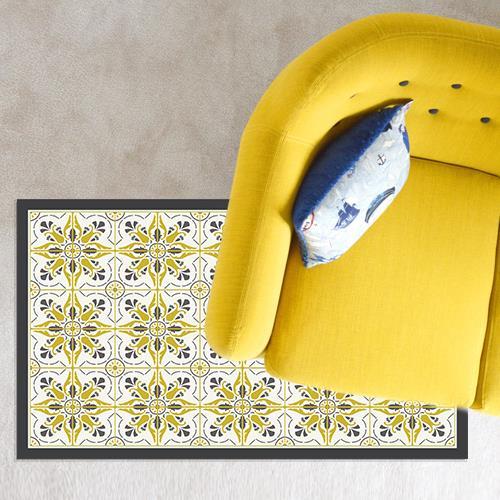 שטיח PVC ויניל - אפור חרדל