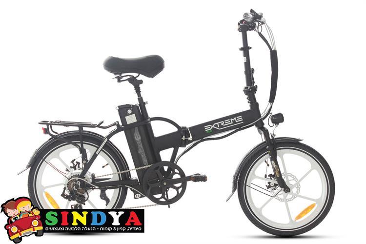אופניים חשמליים 48V EXTREME PRO 16AH שחור/לבן