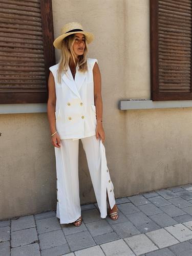 חליפת SAIL לבן