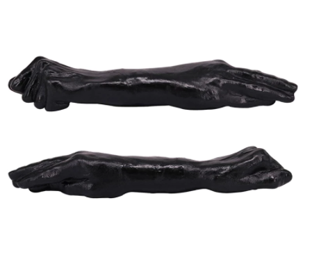 דילדו שחור יד לפיסט דו צדדית