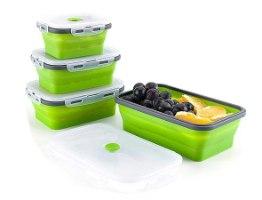 קופסאות אלסטיות אטומות לאחסון מזון במגוון גדלים