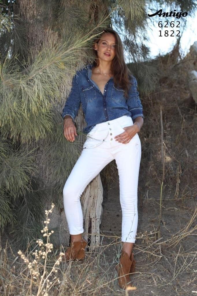חולצה ג'ינס שרוול 3/4 ANTIGO