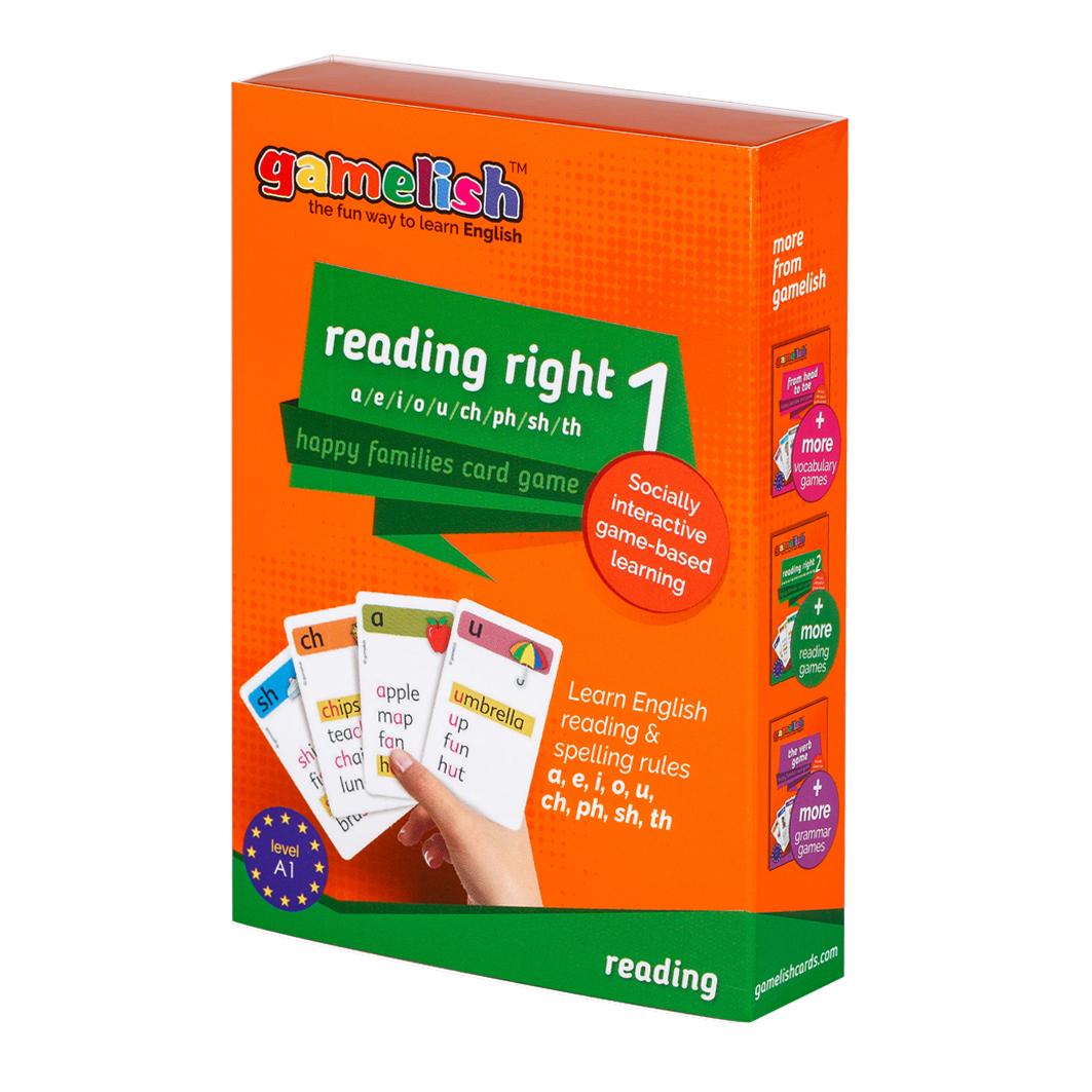 משחק רביעיות gamelish  קוראים באותיות (2 קופסאות) The ABC game