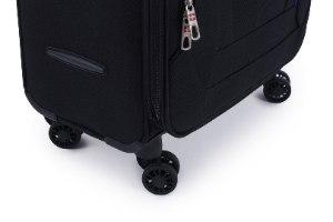 סט 3 מזוודות SWISS בד קלות וסופר איכותיות - צבע שחור