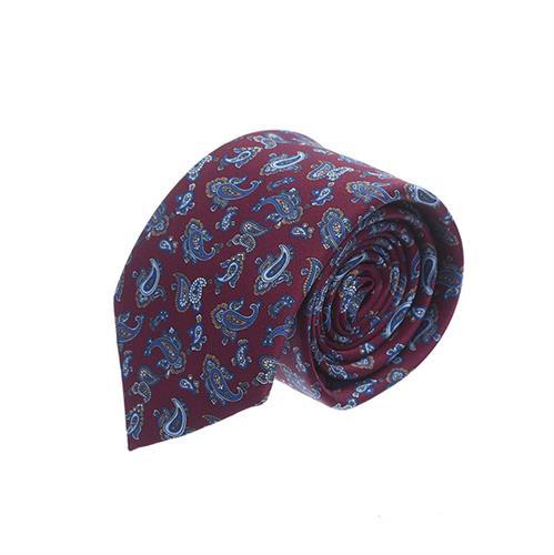 עניבה פייזלי בורדו כחול