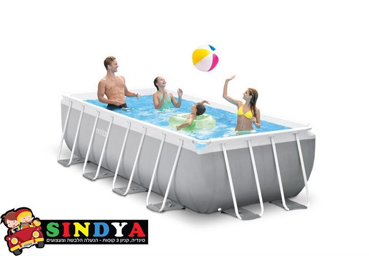 בריכת שחייה אולטרה צינורות מלבנית 400X200X100 INTEX 26788