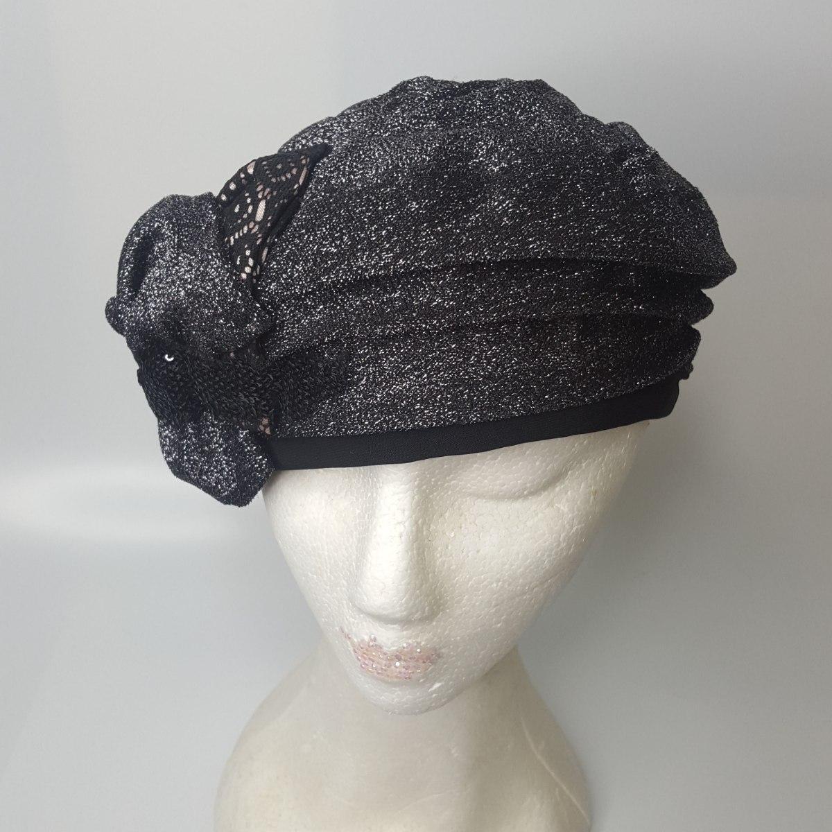 כובע מעוצב אלגנטי שחור לורקס