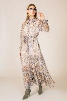 שמלת שיפון מקסי מליקה