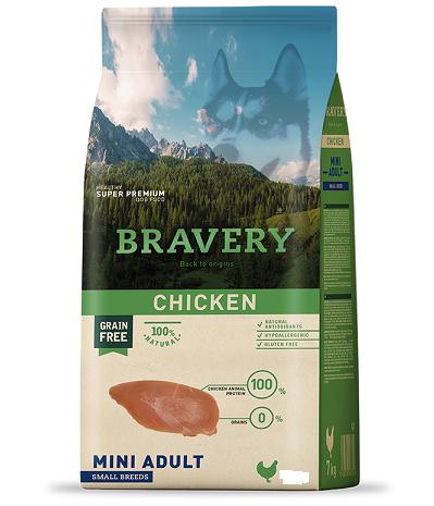 "Bravery עוף בשק 4 ק""ג לכלב בוגר"