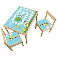 3 יח' טפט דביק מותאם לשולחן וכסאות (LATT)-לוח משחק ג'ירפה