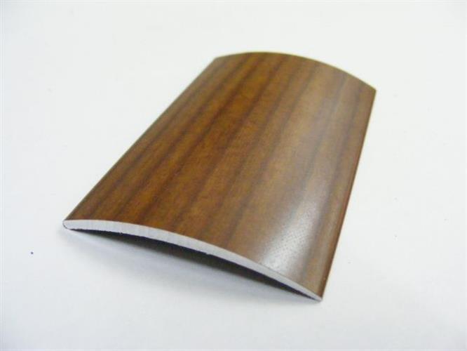 """סף לפרקט- קשת רוחב 40 מ""""מ בצבע עץ אורך 3 מטר"""