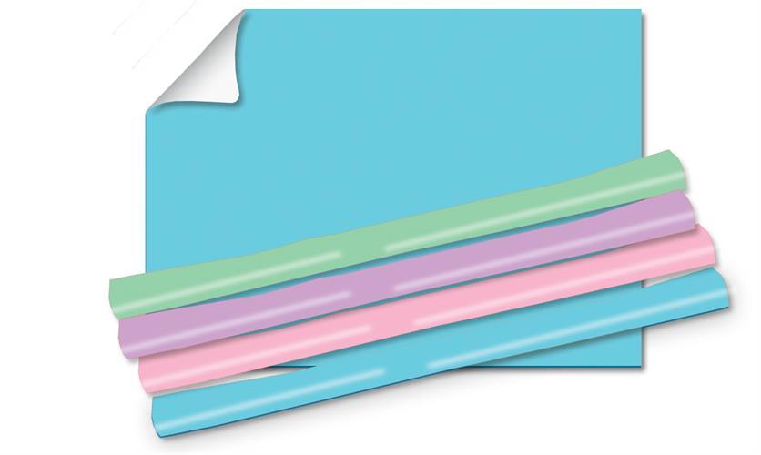 טאץ עטיפות פסטל 70/100שני גליונות