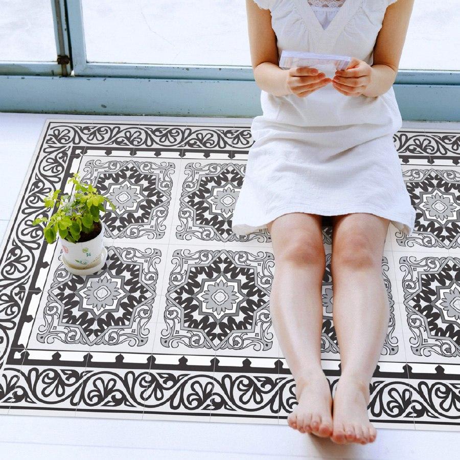 שטיח פי.וי.סי ברצלונה אפור  TIVA DESIGN קיים בגדלים שונים