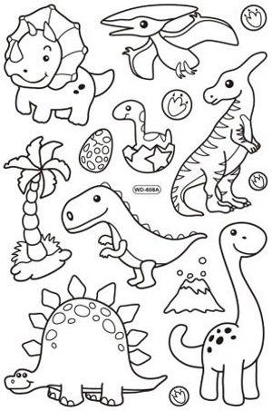מדבקות חלון - דינוזאורים 608 A+B