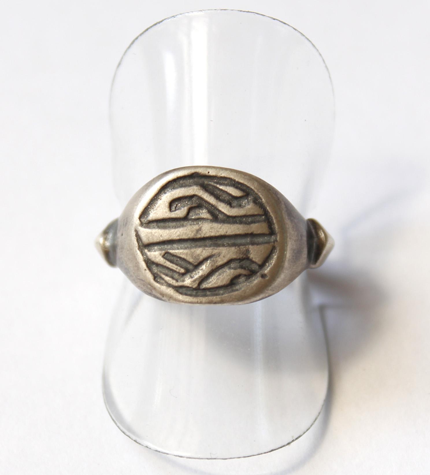 טבעת חותם עתיקה מהתקופה הרומית ביזנטית R120